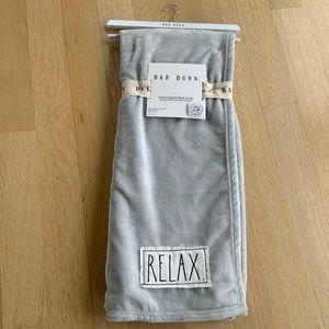 Rae Dunn Grey Plush Throw/Blanket. 🌟Host Pick🌟